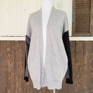 Vince 100% cashmere cardigan colorblock gray XS/ S